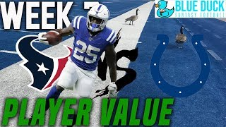 Marlon Mack Player Value - Houston vs Indy Recap - Week 7, 2019 Fantasy Football