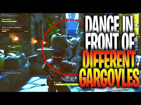 Dance In Front Of Different Gargoyles - All 5 Gargoyle Locations (Fortnightmares Challenges)