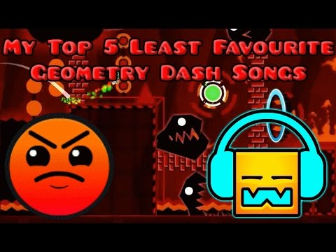 My Top 5 Least Favourite Geometry Dash Songs