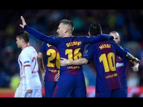 FC Barcelona 3-1 Olympiakos | Highlights & All Goals | 18/10/2017 • HD