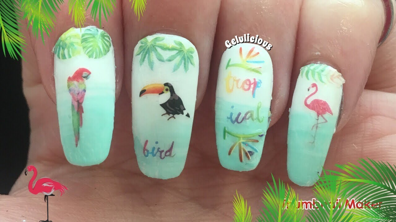 Tropical Nail Art | Easy Gradient | Born Pretty Products - YouTube