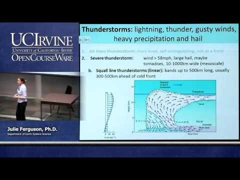 ESS 5. Lec. 14. The Atmosphere: Lightning, Thunderstorms And Tornadoes