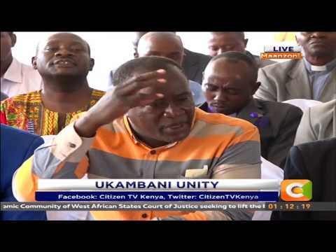 Ukambani leaders hold public meeting to call for unity in the region