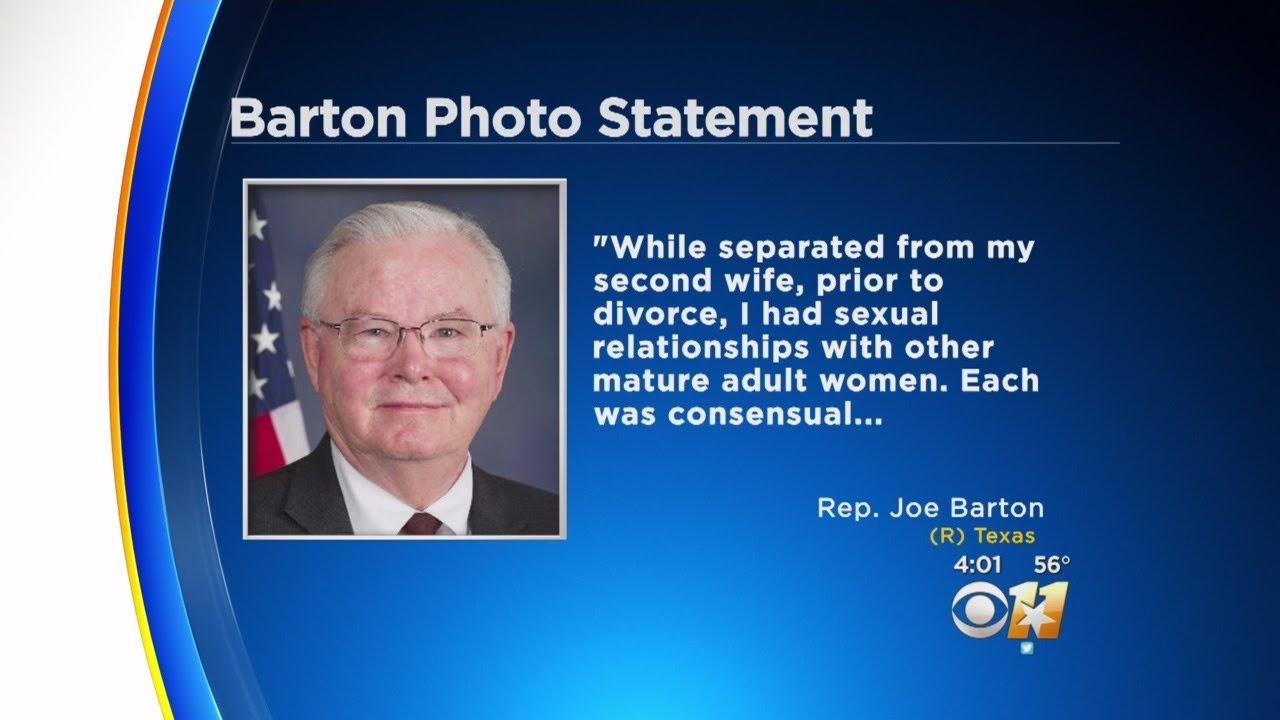 Texas congressman joe barton apologizes for leaked nude