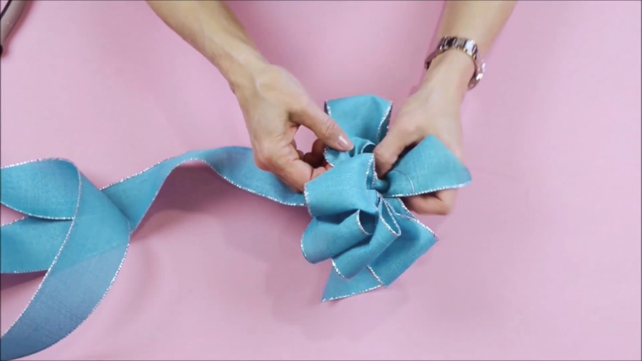 DIY How to Tie a Loopy Bow - YouTube