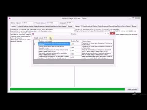 Semantic Text Processing: Example Application