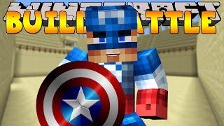 Minecraft - BUILD BATTLES - CAPTAIN AMERICA BUILD OFF!