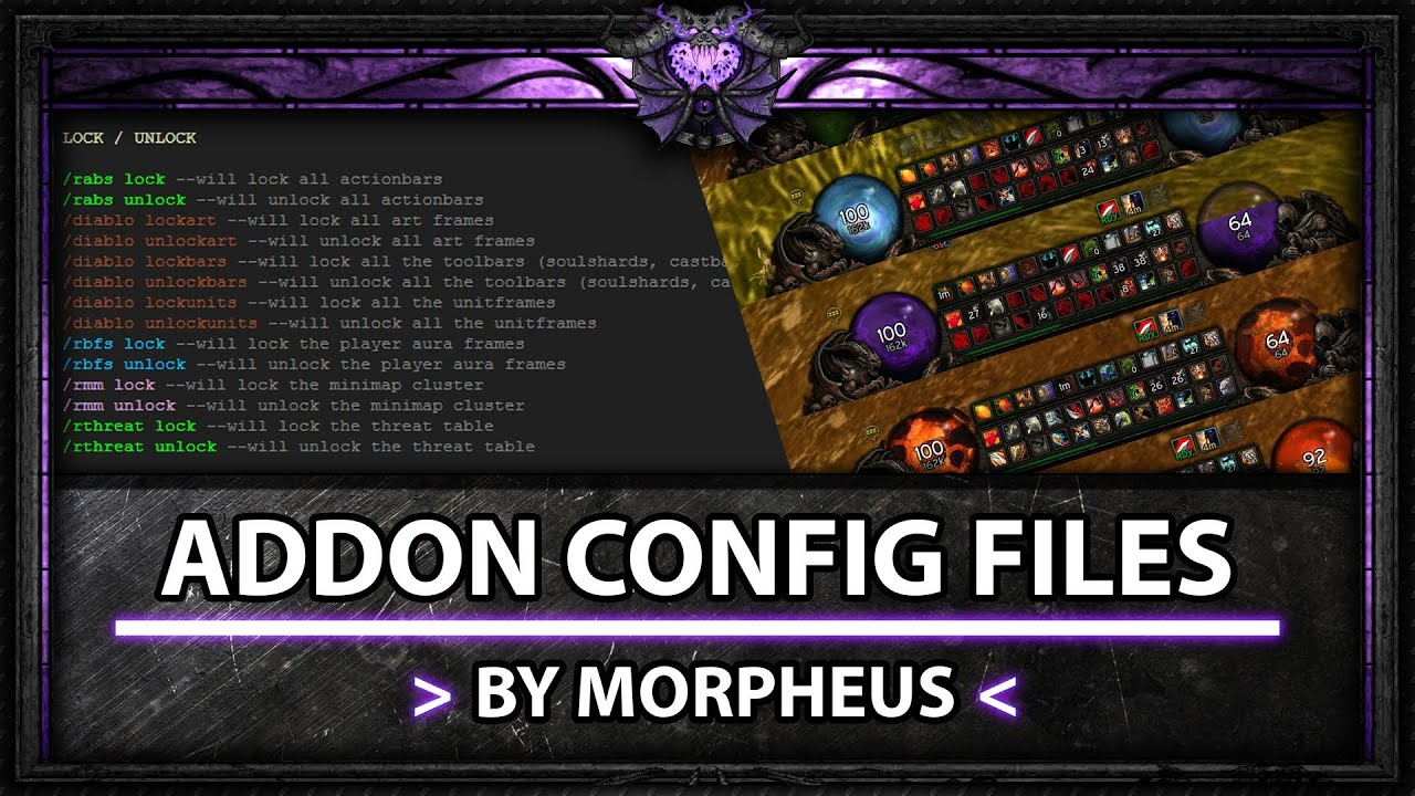 Addons for wow mop 5 4 warlock demonology ui youtube for Wow portent 5 4