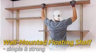 Wall-Mounted Floating Shelf fo…