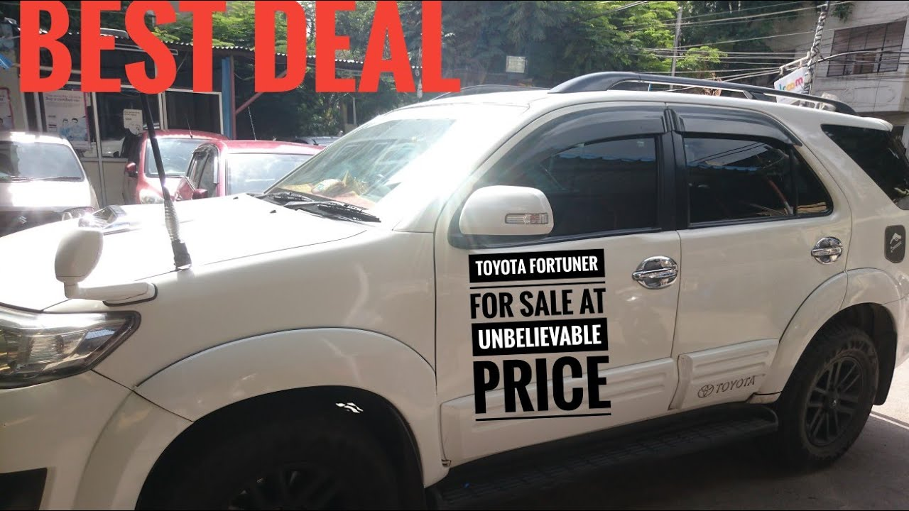 Toyota Fortuner For Sale At Unbelievable Price