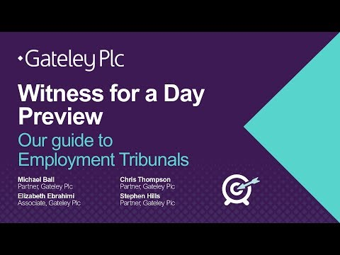 Being a witness at an employment tribunal