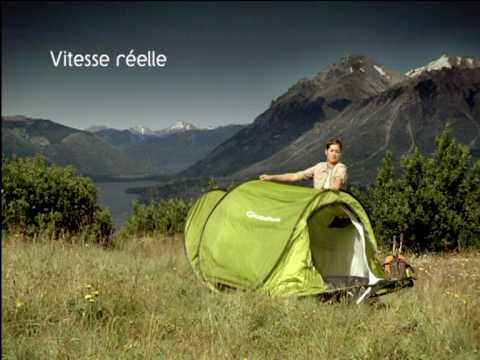pub quechua tente 2 secondes decathlon youtube. Black Bedroom Furniture Sets. Home Design Ideas