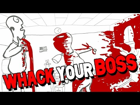Whack Your Boss Gameplay German - ICH HASSE MEINEN CHEF!!!