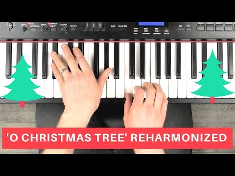 JAZZ PIANO ARRANGING TECHNIQUES | watch me reharmonize 'O Christmas Tree'