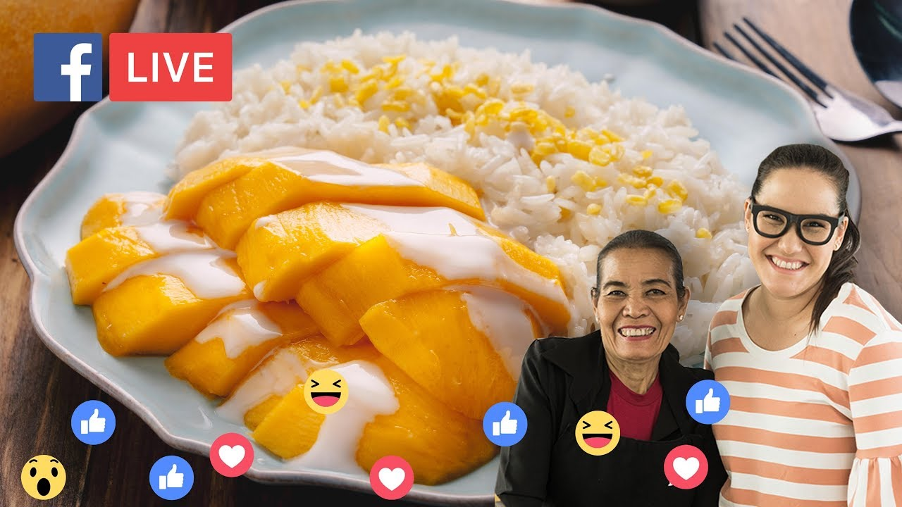 How To Make Thai Mango Sticky Rice Marion S Kitchen Youtube