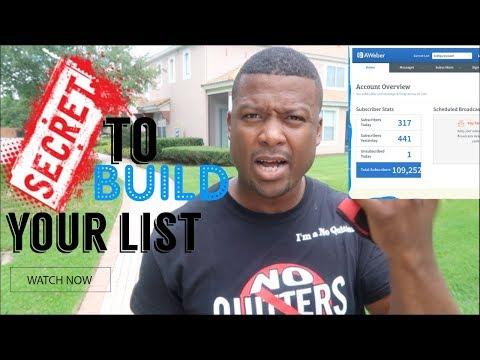 Let's Talk About Building Your List