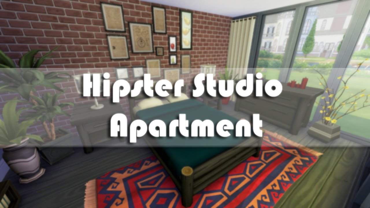 Studio Apartment Building the sims 4: apartment building | hipster studio apartment - youtube