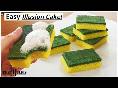 Edible Dish Sponge Cake! *PRANK* Easy Illusion Cake!