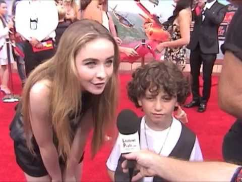 Sabrina Carpenter and August Maturo at the Premiere of Planes: Fire and Rescue