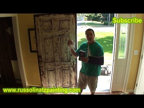Attractive How To Paint A Stained Fiberglass Door (Part 1)
