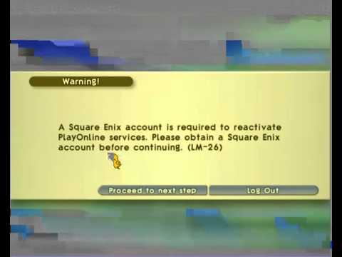 FFXI Accounts - Final Fantasy XI (FFXI) - Error - LM-26