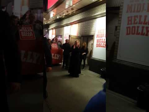 Bette Midler Opening Night of Hello Dolly on Broadway at the Shubert Theatre