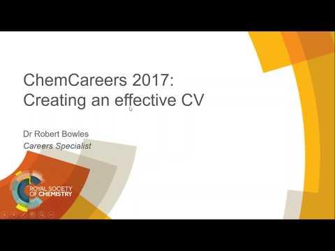 ChemCareers 2017 Creating an effective CV