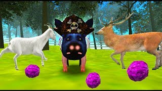 СИМУЛЯТОР СВИНЬИ #5  Поросенок бегает, все ломает. Играем со свиньёй