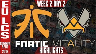 Video FNC vs VIT Highlights | EU LCS Summer 2018 Week 2 Day 2 | Fnatic vs Vitality Highlights download MP3, 3GP, MP4, WEBM, AVI, FLV Juni 2018
