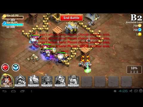 Castle Clash Dungeon Play Through: Dungeon 1 (1-6) Part1