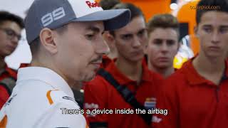 Jorge Lorenzo's surprise visit to the Repsol Racing Tour in Barcelona
