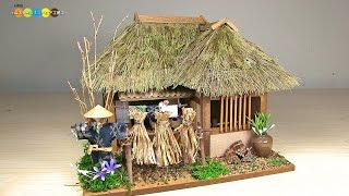 Billy Miniature Tono Thatched Roof House Kit ミニチュアキット 遠野の曲り家作り
