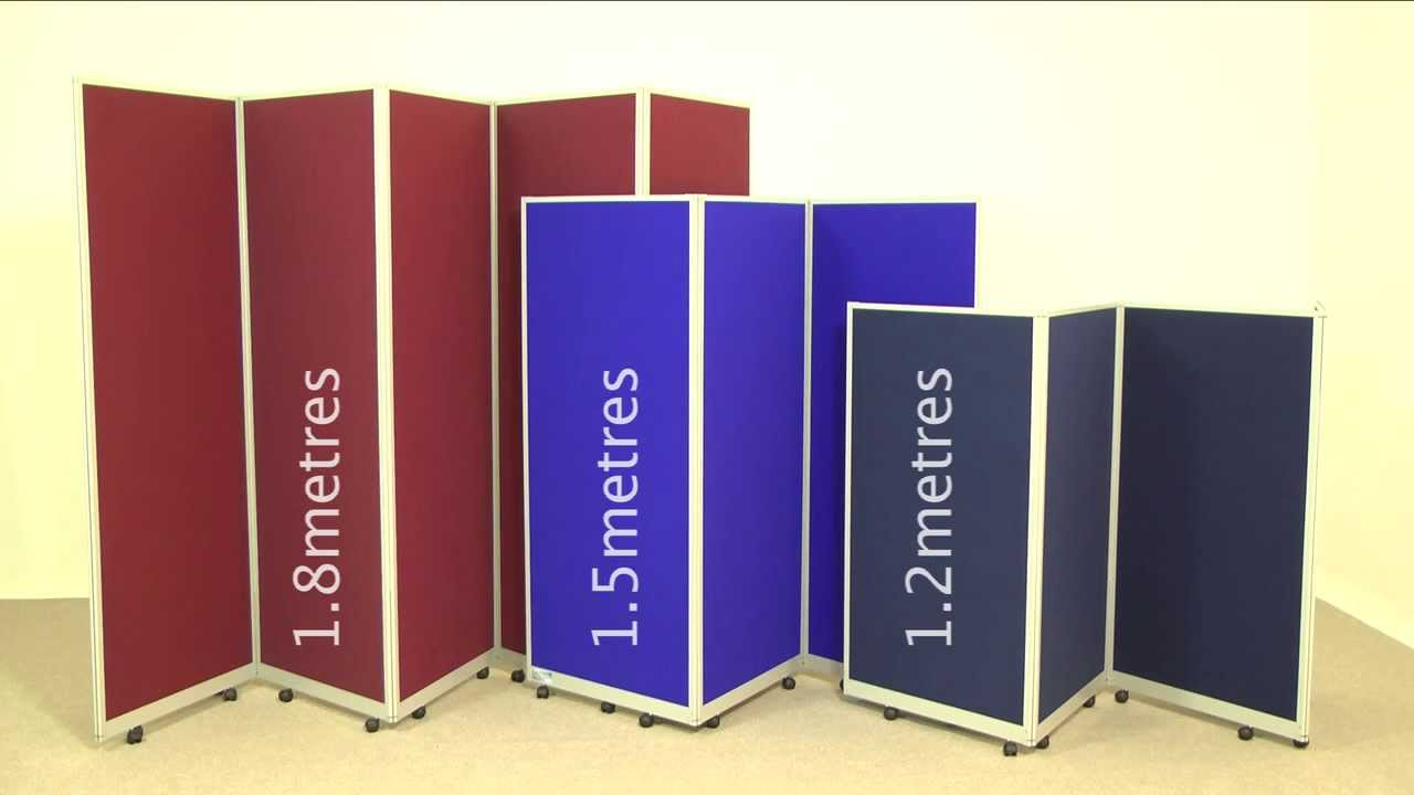 Attractive Mobile Folding Room Dividers   Portable Partitions From Go Displays    YouTube