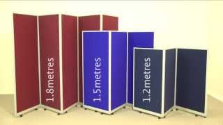 Mobile Folding Room Dividers - Portable Partitions From Go Displays