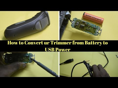 How to convert ur trimmer from battery to usb power | Mr. Repair