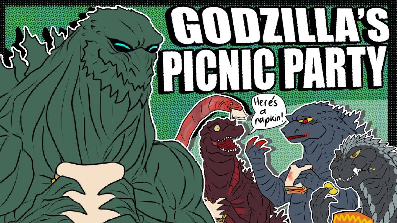 Godzilla KOTM | Godzilla Earth's Godzilla Picnic Party (Godzilla Comic Dub)