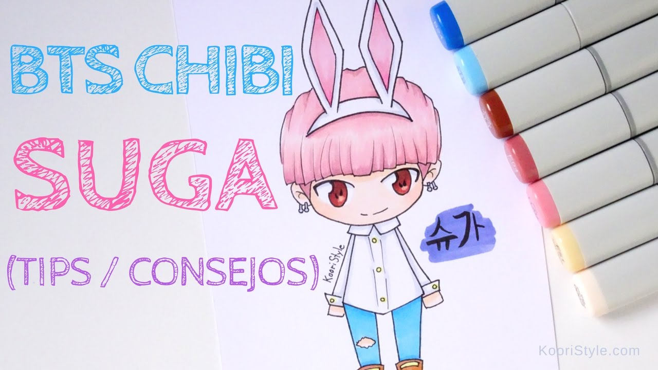 Bts Chibi Speed Drawing Suga Advice Eng Esp Youtube