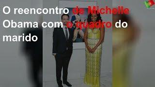 O reencontro de Michelle Obama com o quadro do marido
