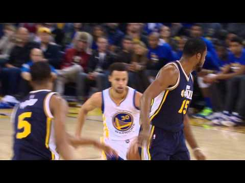 Steph Curry Puts Derrick Favors in the Blender
