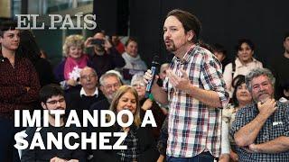 Así imita Pablo Iglesias a Pedro Sánchez