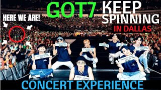GOT7 'KEEP SPINNING TOUR' in DALLAS CONCERT EXPERIENCE!
