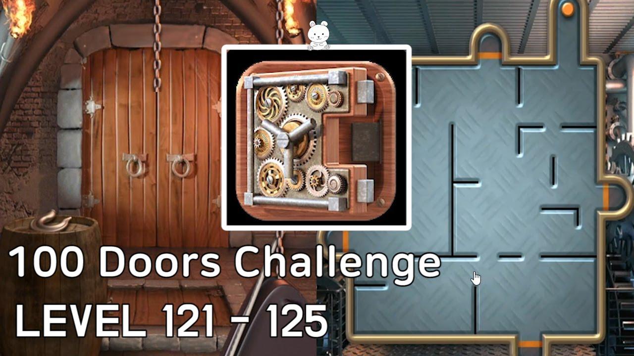 100 Doors Challenge Level 121 122 123 124 125 Walkthrough Protey Apps Youtube