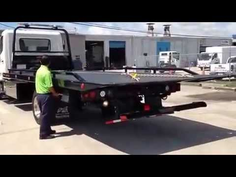 Truck Bed Bed >> Hino Rollback Flatbed Tow Truck with Jerr-Dan Rollback Body - YouTube