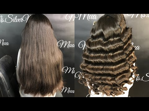 How To Do Old Hollywood Waves - Beginners - Step By Step - Glam Finger Waves - Vintage Waves