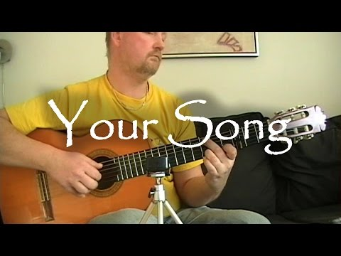 Your Song - Elton John | fingerstyle guitar (with tabs)