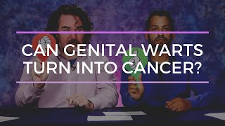 Can genital warts turn into cancer?
