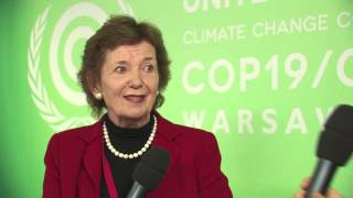 COP19: Mary Robinson, Former Irish President, Mary Robinson Fundation