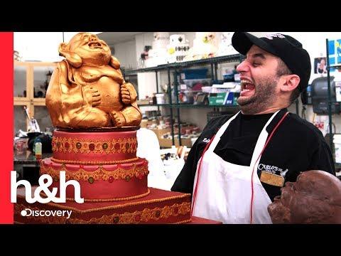 ¡Ralph hace un Buda de chocolate muy grande!   Cake Boss   Discovery H&H