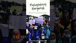 Mahasiswa Bergerak ke Istana, Jokowi Terbang ke Kalimantan