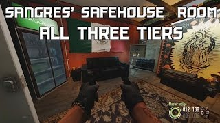 PAYDAY 2 - SANGRES' SAFEHOUSE ROOM (ALL 3 TIERS)